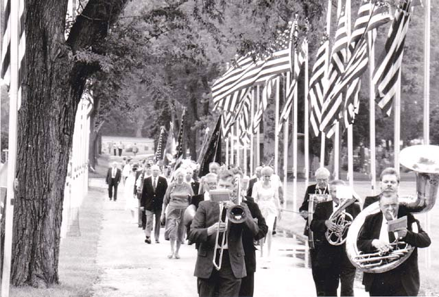 Parade procession in 1989