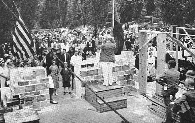 Groundbreaking of new office building in 1937